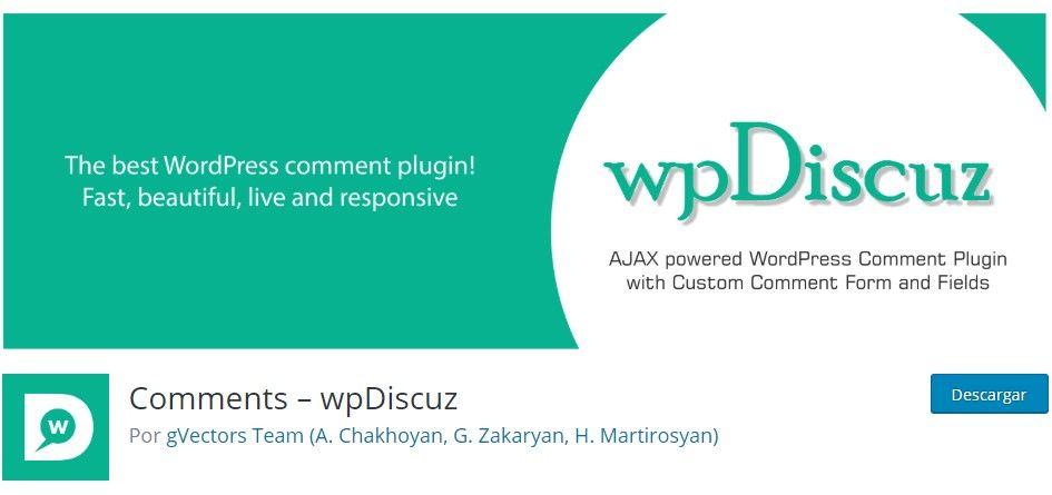 comentarios wpdiscuz para wordpress